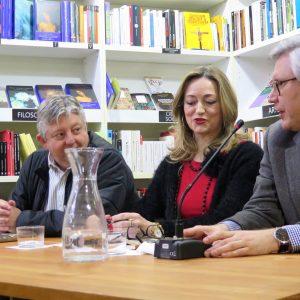 Presentación de Brillo de asfalto de Marián Torrejón. Le acompañaron Miguel Sanfeliu Y Javier Fórcola